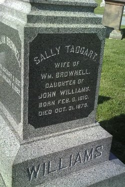 Sally Taggart <i>Williams</i> Brownell