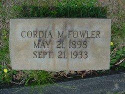 Cordia Mae <i>Carter</i> Fowler
