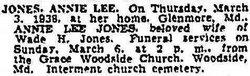 Annie Lee <i>Kerns</i> Jones