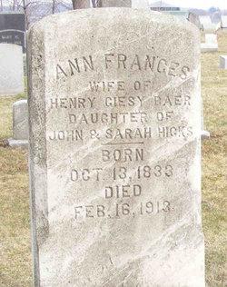 Ann Frances <i>Hicks</i> Baer