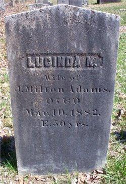 Lucinda K. <i>Manter</i> Adams
