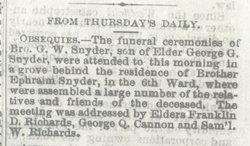 George Wilder Snyder