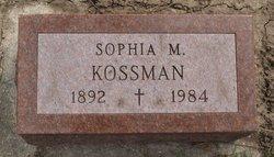 Sophia M <i>Billman</i> Kossman
