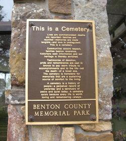 Benton County Memorial Park