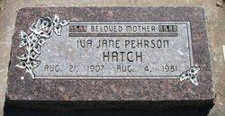 Iva Jane <i>Pehrson</i> Hatch