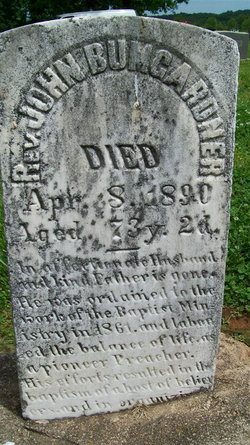 Rev John Webster Bumgardner