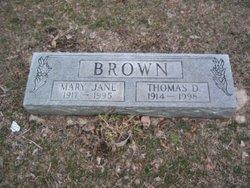 Thomas D Brown