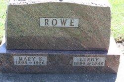 Mary K. <i>Crumbaker</i> Rowe