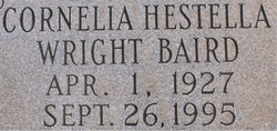 Cornelia Hestella <i>Wright</i> Baird