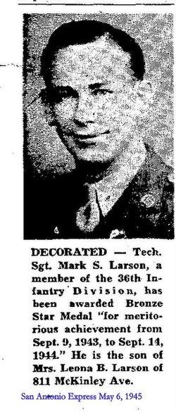 Sgt Mark Sherman Larson