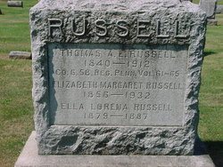 Elizabeth Margaret Lizzie <i>Moll</i> Russell