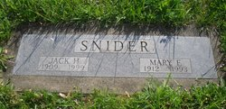 Mary Frances <i>Dodd</i> Snider