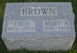 Marie Anna <i>Kamrath</i> Brown