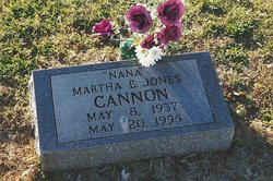Martha E <i>Jones</i> Cannon