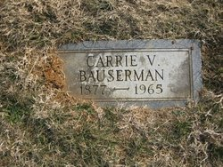 Carrie Virginia <i>Huffman</i> Bauserman