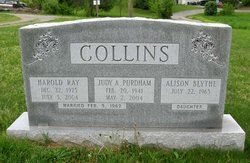 Judy Arlene <i>Purdham</i> Collins