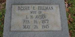 Bessie E <i>Tillman</i> Avera