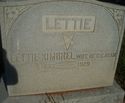 Lettie <i>Kimbrel</i> Beam