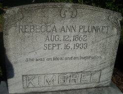 Rebecca Ann <i>Plunket</i> Kimbrel