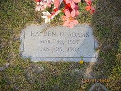 Hayden D. Adams