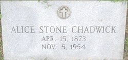 Alice <i>Stone</i> Chadwick