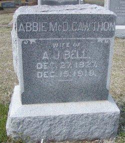 Abbie McD. <i>Cawthon</i> Bell