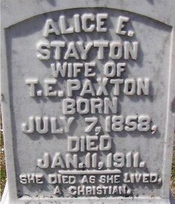 Alice E <i>Stayton</i> Paxton