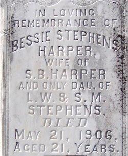Elizabeth Susan Bessie <i>Stephens</i> Harper