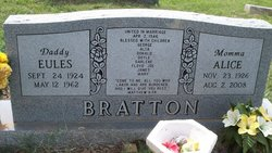 Alice C. <i>Johnson</i> Bratton