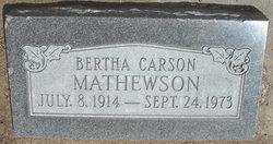 Bertha C Mathewson