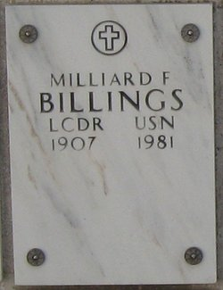 Lt Commander Milliard F Billings