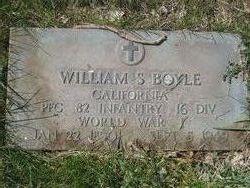 PFC William S Boyle