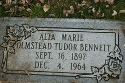 Alta Marie Tudor <i>Olmstead</i> Bennett
