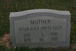 Susan Alice <i>Sheets</i> Allen