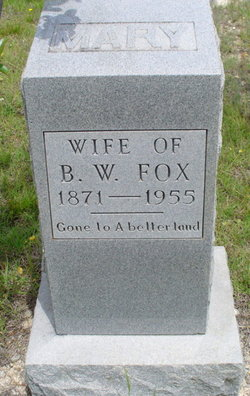 Mary <i>Bivins</i> Fox