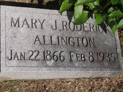 Mary J <i>Roderick</i> Allington