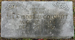 Lela Bobbie <i>Griffey</i> Colquitt
