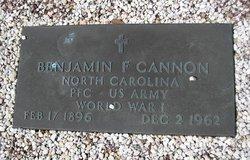 Benjamin Franklin Cannon