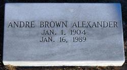 Andre <i>Brown</i> Alexander