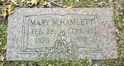 Mary W. <i>Hamlett</i> Alderdice