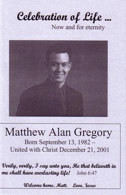 Matthew Alan Gregory