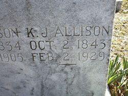 Keziah J <i>Allred</i> Allison