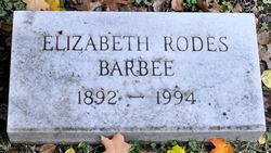 Elizabeth <i>Rodes</i> Barbee