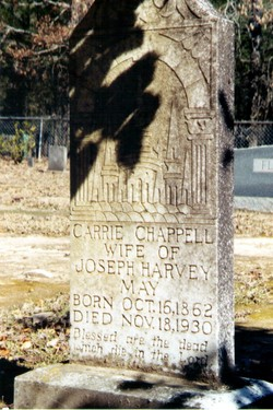 Caroline Lavenia Carrie <i>Chappell</i> May