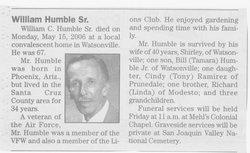 William Charles Humble, Sr