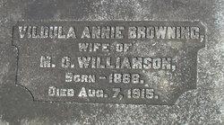 Vildula Annie <i>Browning</i> Williamson