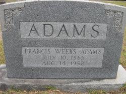 Frances <i>Weeks</i> Adams