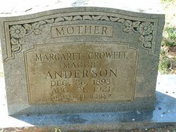 Margaret 'Maggie' <i>Crowell</i> Anderson