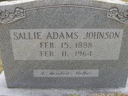 Sallie <i>Adams</i> Johnson