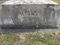Sallie Carroll <i>Adams</i> Adams